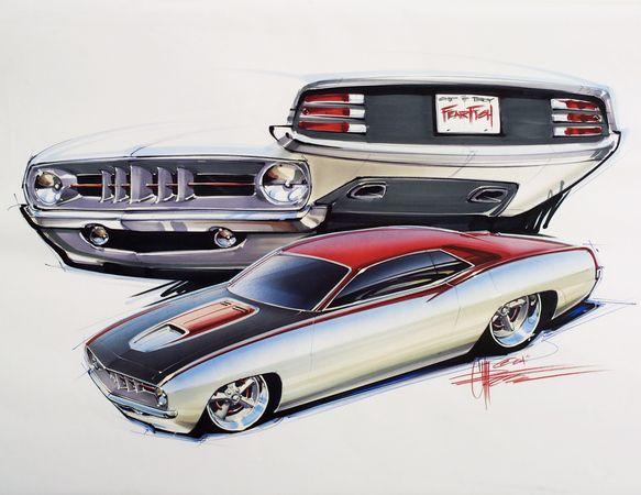 Chip Foose | Carros Antigos | Pinterest | Autos, Skizzen und Zeichnungen