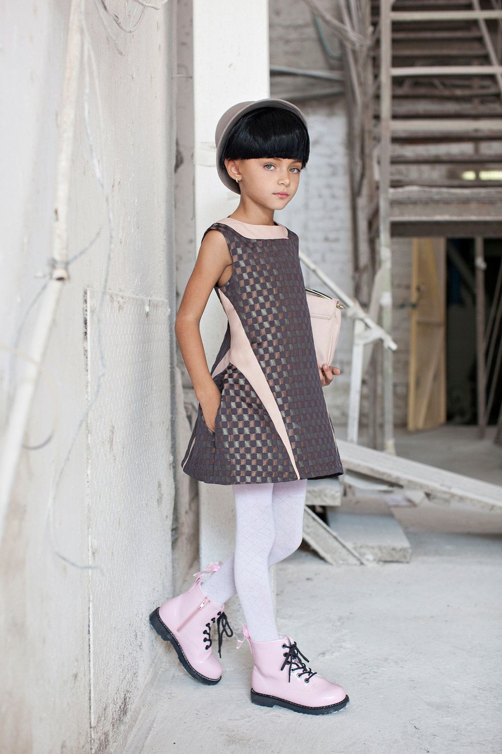 Metallic plaid dress, Girls Party Dress, Special Occasion Fashion ...