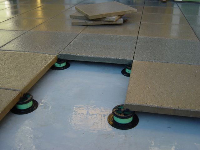 Tile Tech Pedestal System Is Designed For Concrete Pavers To Lay Level Over A Built Up Roof Wood Deck Tiles Building A Deck Roof Deck