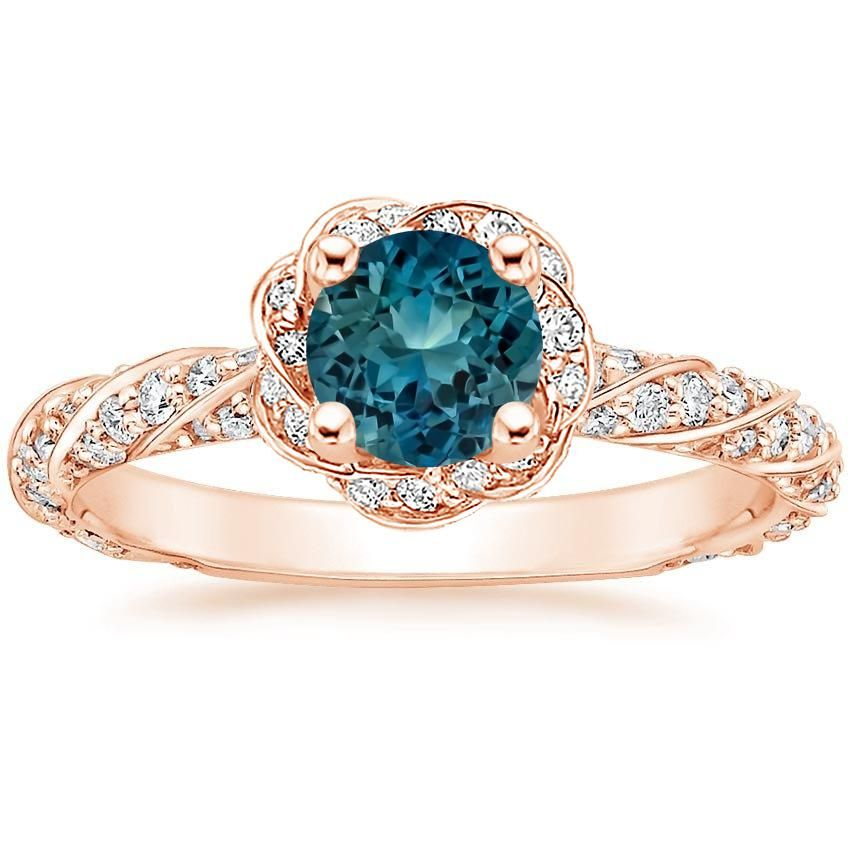 Teal Shire Cordoba Engagement Ring 14k Rose Gold