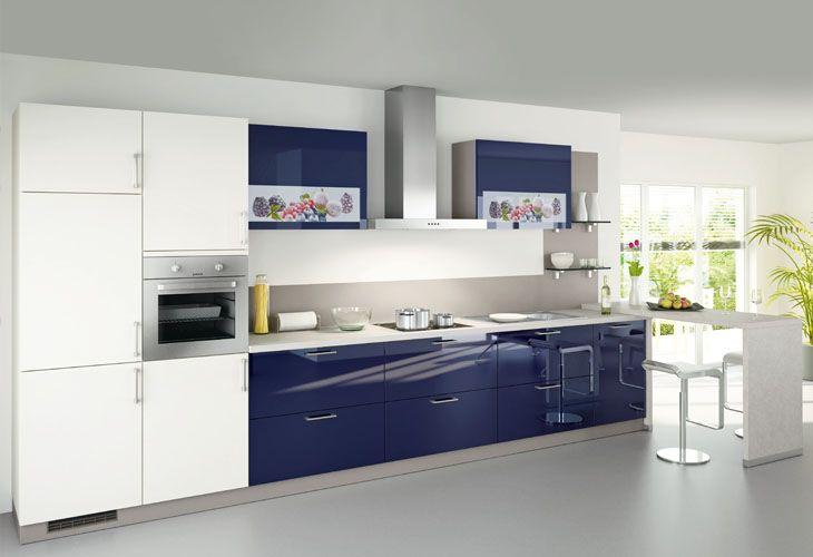 k che in blau k chenzeile blaue k chen pinterest blue kitchen und. Black Bedroom Furniture Sets. Home Design Ideas