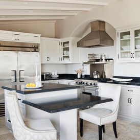 Contemporary kitchen featuring our Park Avenue Dining Chairs