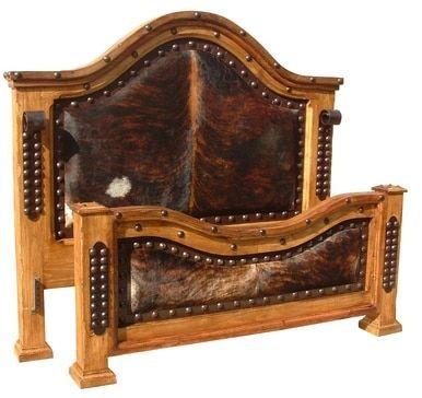 Hacienda Cowhide Cal King Bed -   - #Bed #beddesignmodernluxury #bedgirl #Cal #cowhide #hacienda #King #kingbeddiy