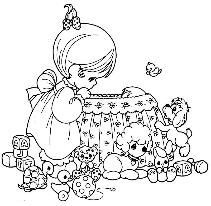 Mother taking care of his child - coloring pages | Coloring Pages ...