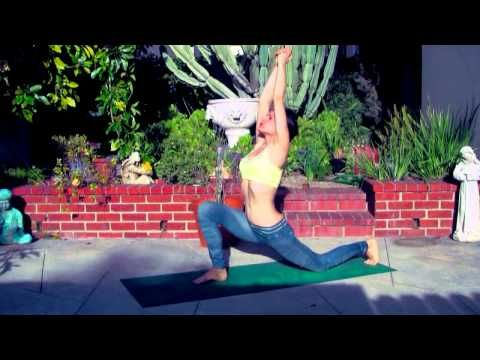 morning yoga class for complete beginners yoga girl stretching