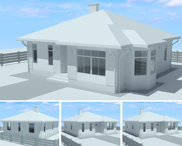 Cozy Cottage Architectural Project - 3DOcean Item for Sale Design