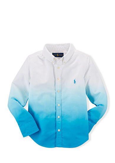 Ralph Lauren Little Girls Button-down Shirt Color White