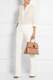 ae223e44bd5a6f Gucci Bamboo Daily medium textured-leather tote | NETAPORTER | Gucci ...