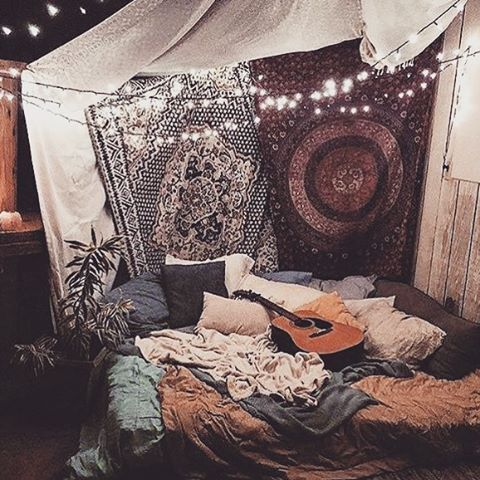 Kinda want to hang something around my bed so there\'s some type of ...