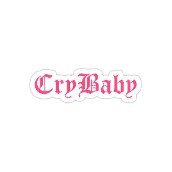 Crybaby Logo Lil Peep Sticker By Flawlesschicago Cry Baby Tattoo Lil Peep Tattoos Cry Baby