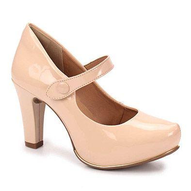 5d2a5ab95c Sapato Boneca Salto Feminino Dakota - Nude