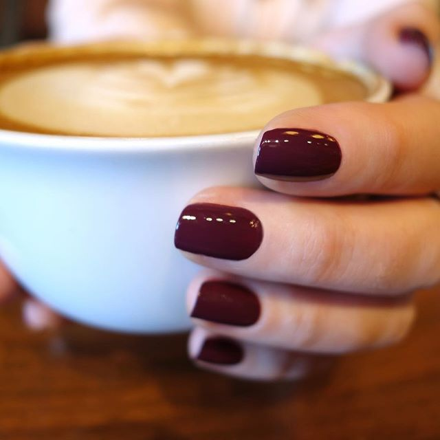 Cool Fall mornings call for coffee and #ZoyaToni! ☕️🍂 PS- Click the link in our bio for more info on our Semi-Annual Nail Polish Exchange! Trade in ANY brand of polish for healthy new Zoya!  #everydayzoya #love #fall  #autumn #notd #healthierishappier