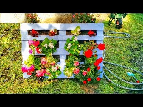 Como hacer una Jardinera con Palets Vertical - Super facil - como hacer una jardinera