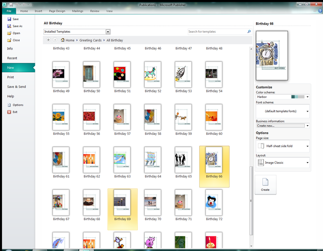 micrsoft publisher 2010 first look changing layout options affects all templates