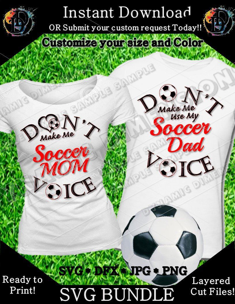 e717b5e81e51a Excited to share this item from my  etsy shop  Soccer Mom Dad Voice Soccer  Svg Soccer Ball Bundle Svg Soccer Svg Bundle Soccer Cut Silhouette Files  Cricut ...