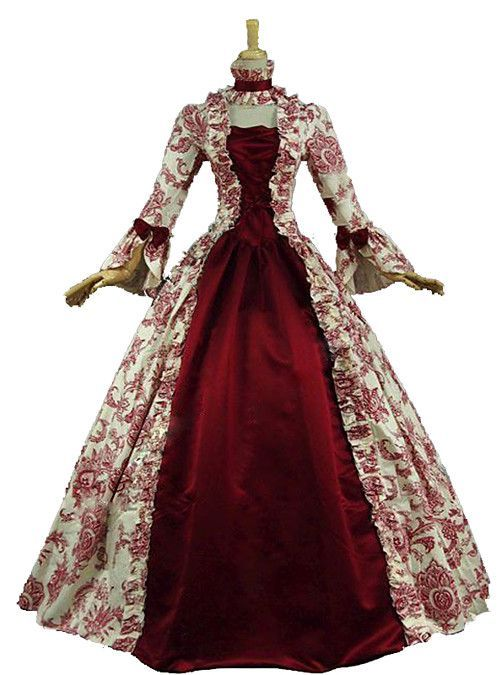 Vintage Rococo Victorian Costume Women's Dress Party Costume Masquerade Ball Gown Red Vintage Cosplay Lace Satin Cotton Long Sleeve Poet Sleeve Long Length Ball Gown Plus Size Customized Halloween 2018 - US $79.19 #masqueradeballgowns Vintage Rococo Victorian Costume Women's Dress Party Costume Masquerade Ball Gown Red Vintage Cosplay Lace Satin Cotton Long Sleeve Poet Sleeve Long Length Ball Gown Plus Size Customized Halloween 2018 - US $79.19 #masqueradeballgowns