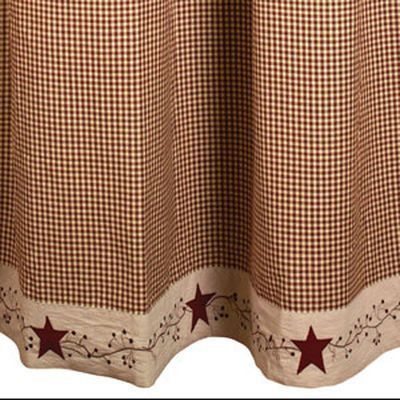 Stars Berry Vines Country Primitive Shower Curtain Primitive