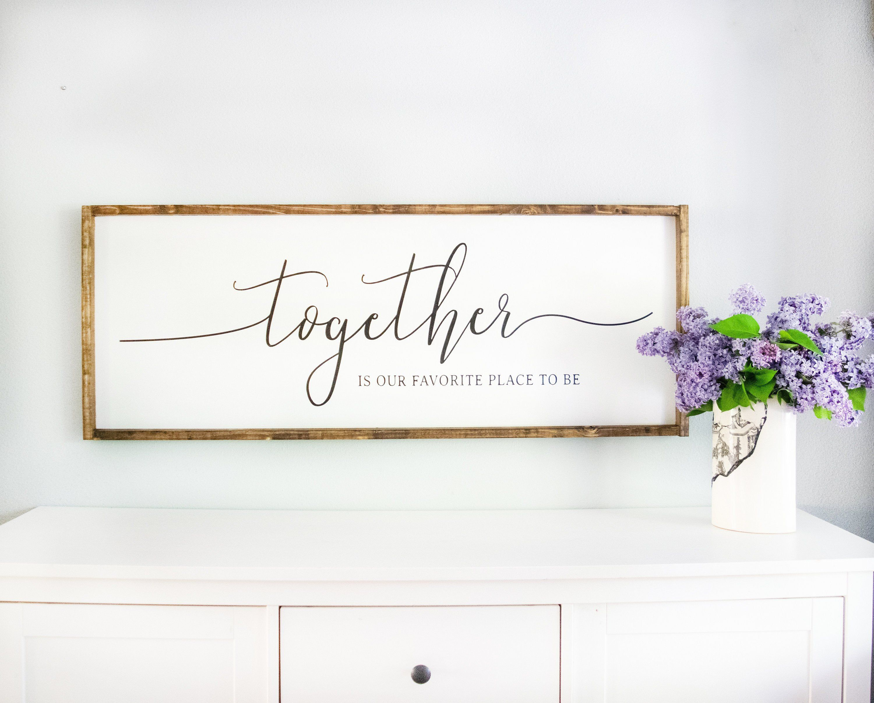 Bedroom Signs Framed White Together is Our Favorite Place
