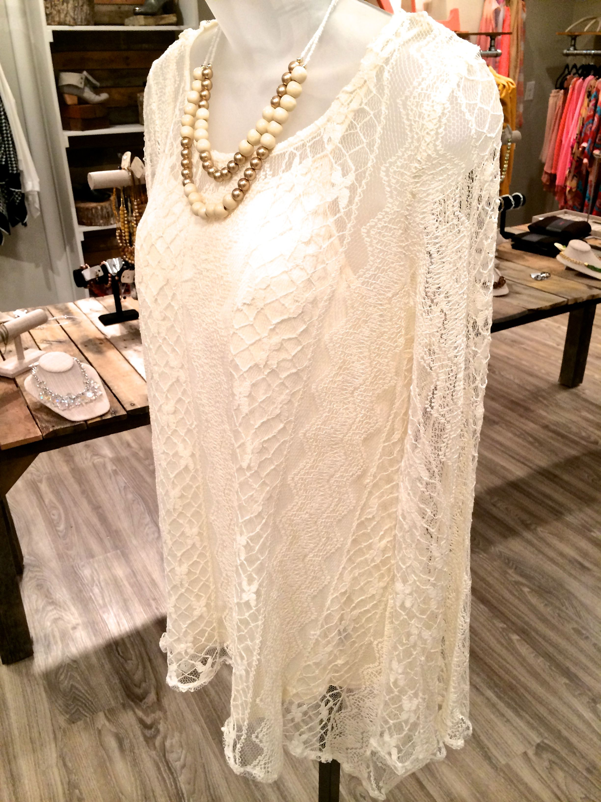 Ivory Lace High-Low Tunic — Re:Defined Boutique