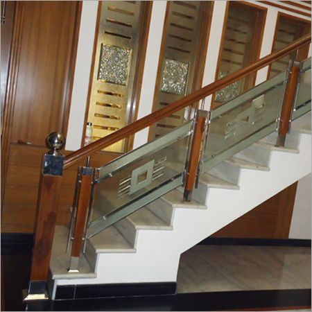 Staircase railing designs designs railing stair case for Interior staircase designs india