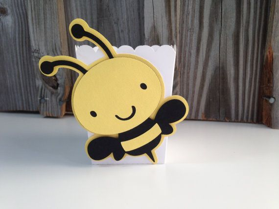 Set of 12 Yellow and Black BUMBLE BEE Mini by PinkPaperPalooza
