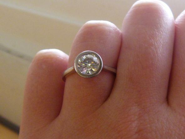 Any bees with bezel set rings wedding bezel peridot ring