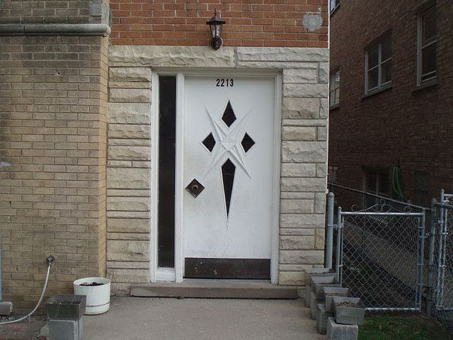 this side light is great - MidCentury Modern door by repowers, via Flickr