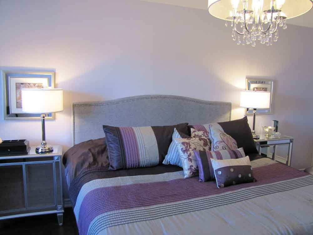 Comfortable Cool Purple And Grey Bedroo Listed In Hgtv Bedroom Topic Then