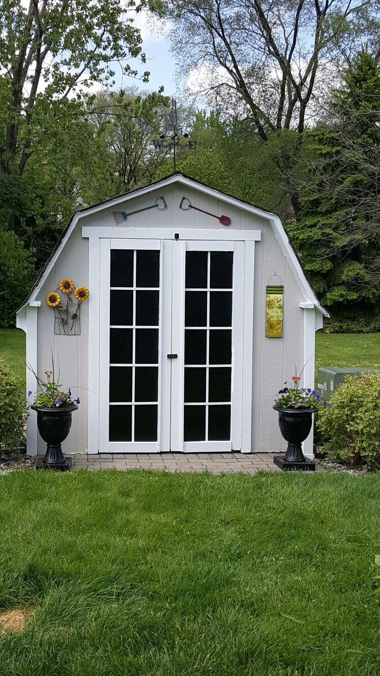 Completed french door shed makeover very simple just