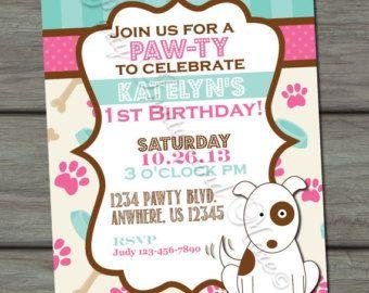 Puppy Birthday Invitation Dog Party