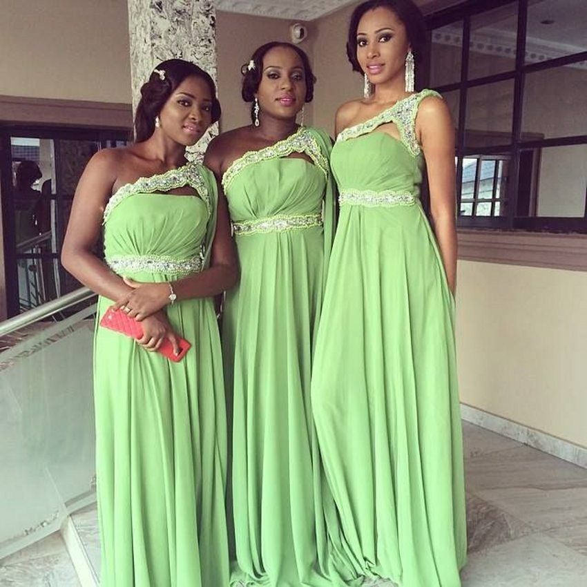 2016 New African American Bridesmaid Dresses A Line Backless One ...