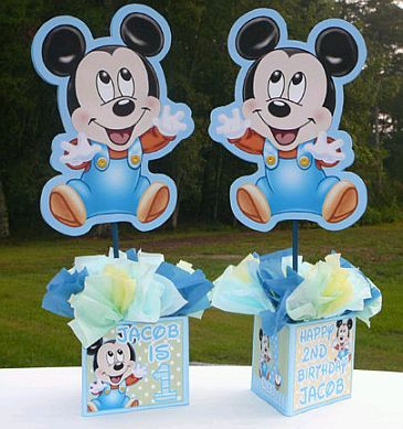 Pin De K En Centros De Mesa Infantiles Souvenirs De Mickey Bebe Decoracion De Mickey Bebe Decoracion Mickey