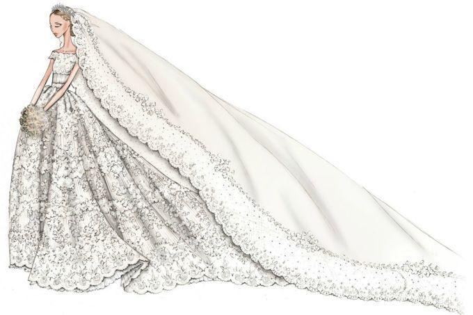 Princess Madeleine Valentino Wedding Gown | Nel sole, nel vento, nel ...
