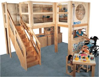 toddler wooden indoor climbing play gym | Kinderen | Pinterest ...
