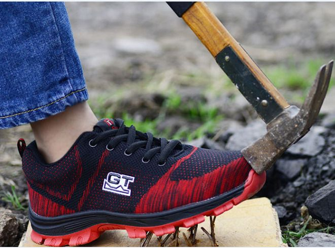 Fashion Men/'s Safety Shoes Steel Toe Work Boots Breathable Hiking Climbing Sport