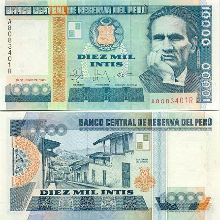 Peru currency peru 10000 intis 1988 peruvian currency bank notes peru currency peru 10000 intis 1988 peruvian currency bank notes paper money altavistaventures Images