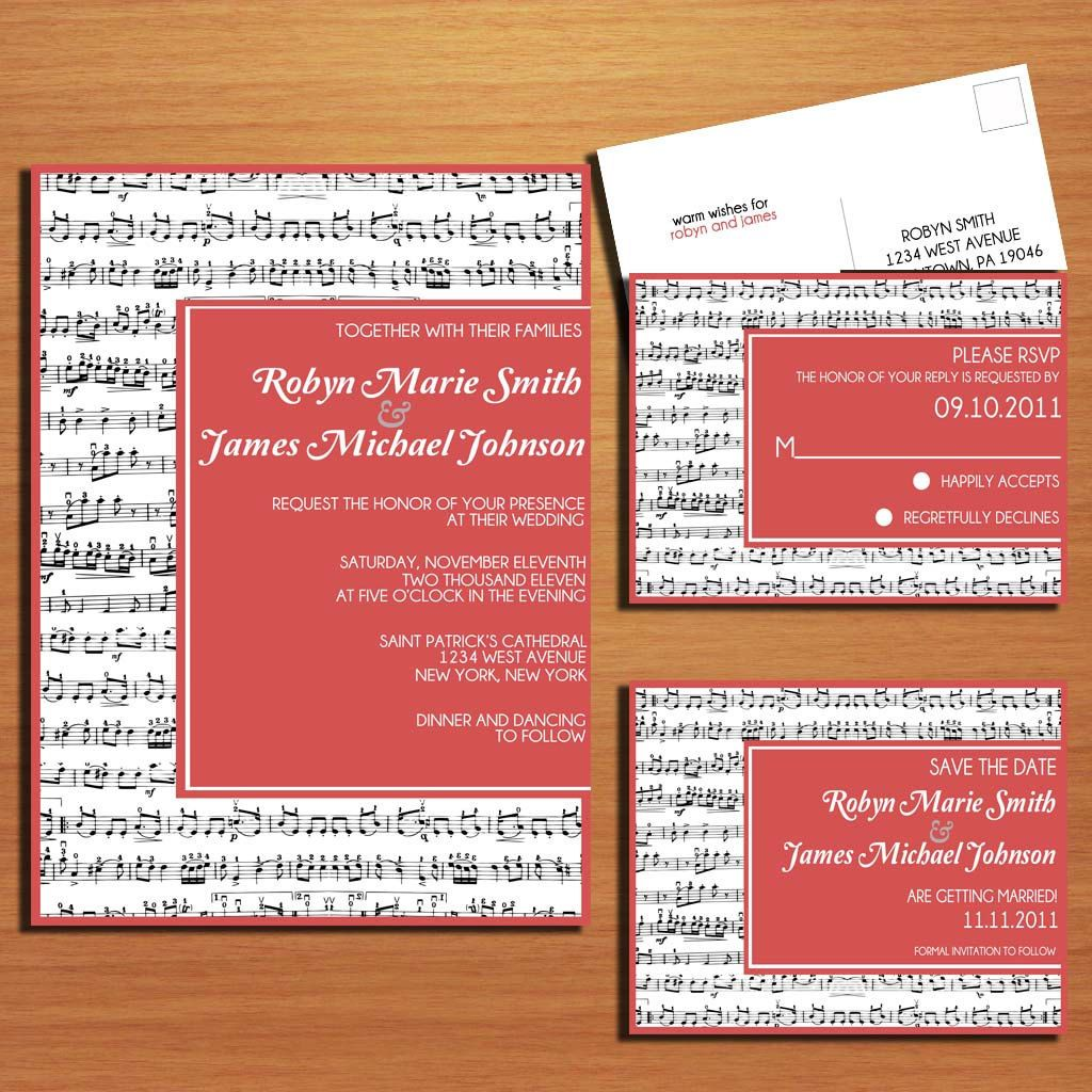 Could do this with a picture inside! Music Lovers Wedding Collection ...
