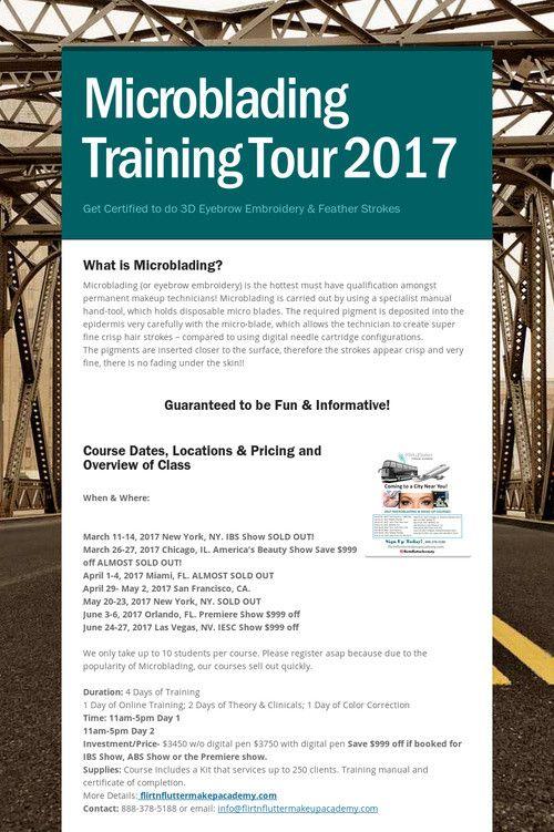 Microblading Training Tour 2017 San Francisco Microblading