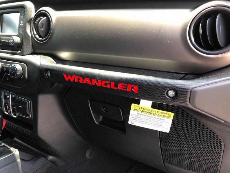 Glovebox Dashboard Grab Handle WRANGLER Vinyl Decal Inlays