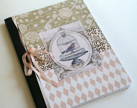 Birdcage JOURNAL lined pages writing Notebook Journal - lined pages for writing