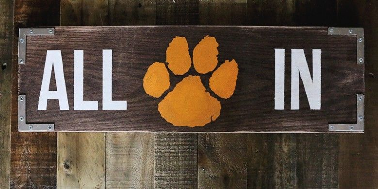 "DIY Clemson ""All In"" Sign"
