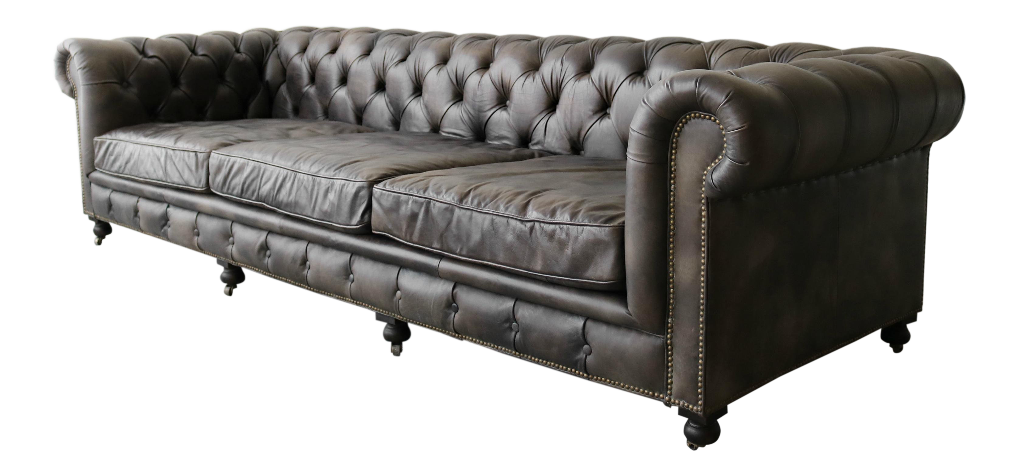 10ft Italian Leather Chesterfield Sofa On Chairish Com Sofa Leather Chesterfield Sofa Chesterfield Sofa