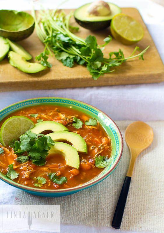 Paleo Chicken Tortilla Soup Recipe Recipies Pinterest Soup