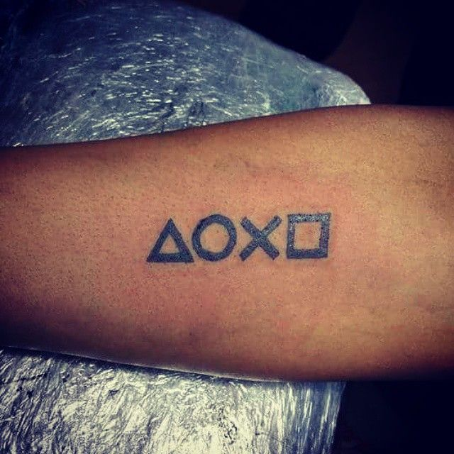 Playstation Button tattoo on my for arm. | Playstation ...