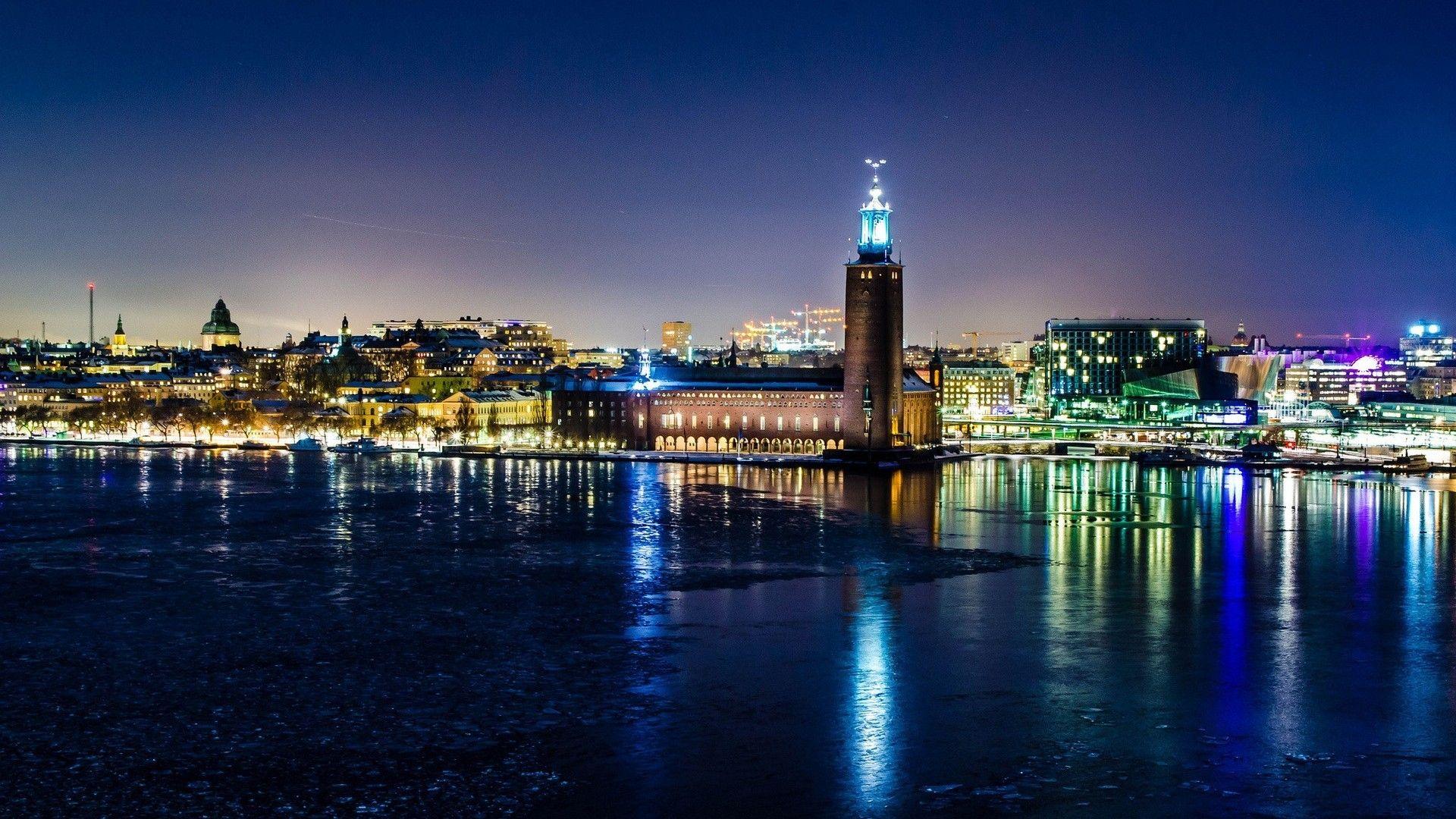 Winter Night In Stockholm Stockholm