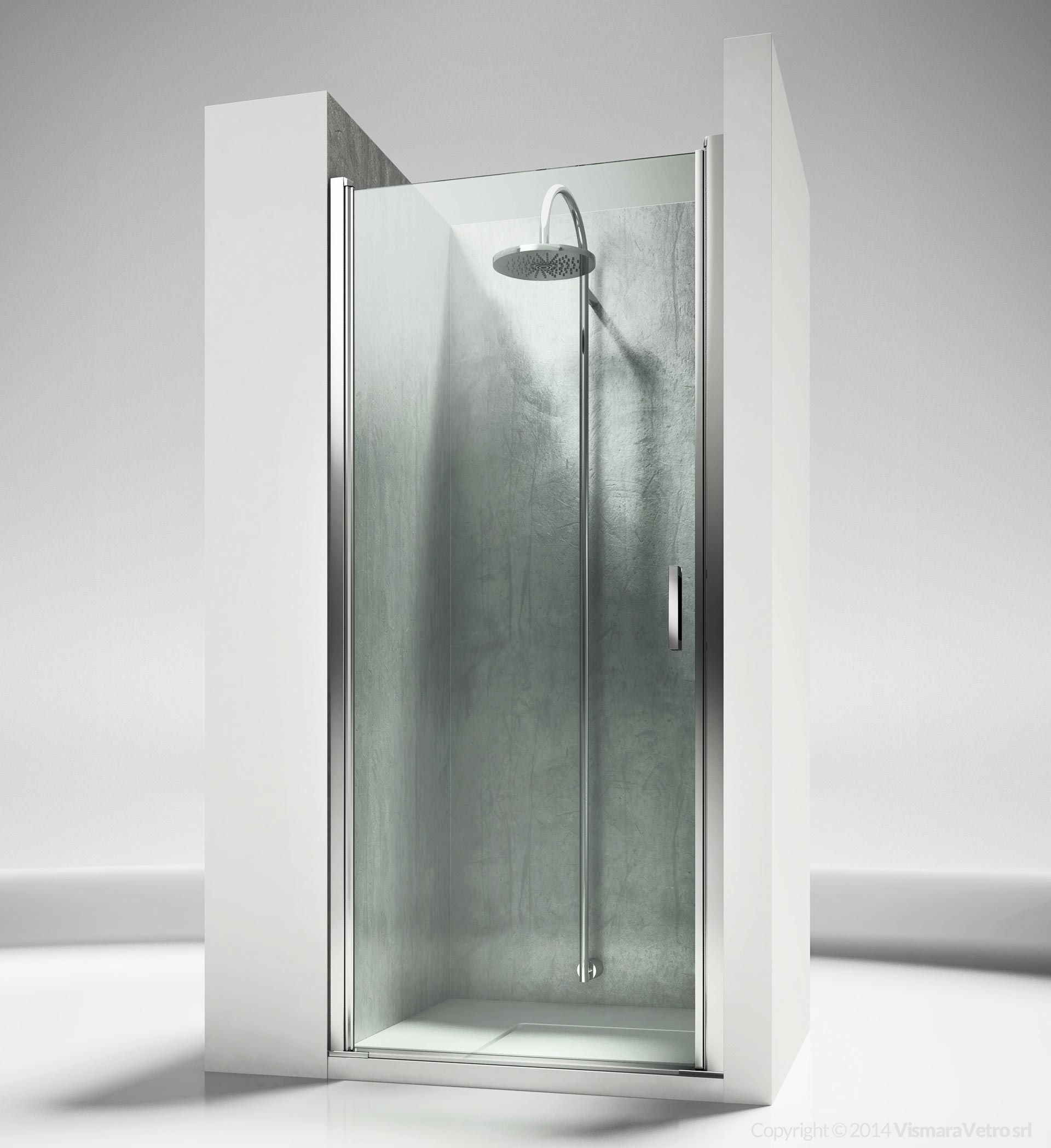 Frameless Shower Enclosure For Recessed Shower Trays With A 180
