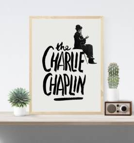 poster chaplin 5 - 30x40 cm | posters para decoração | pinterest, Powerpoint templates