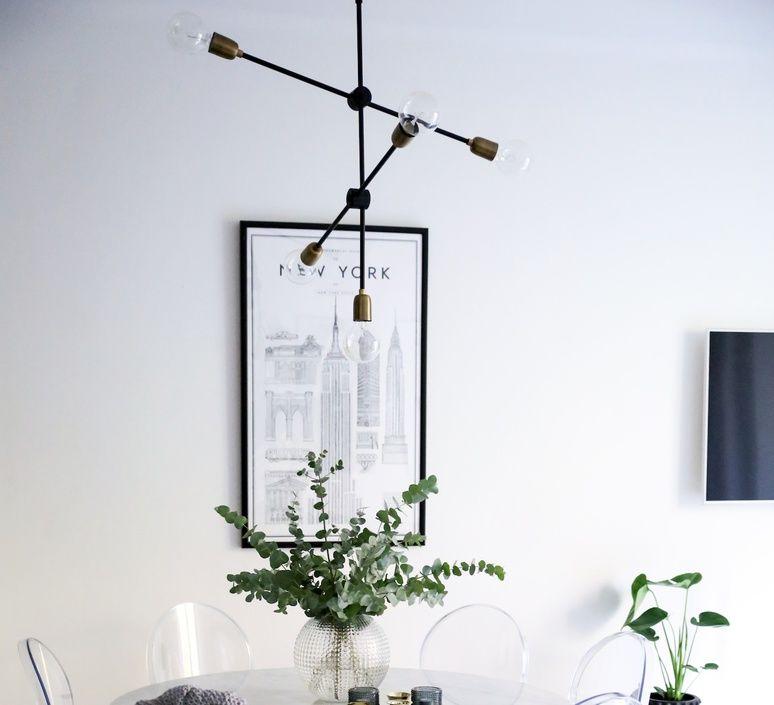 Suspension Molecular Noir Laiton H78cm O68cm House Doctor In 2020 House Decor Modern Exterior House Remodel Living Room Lighting