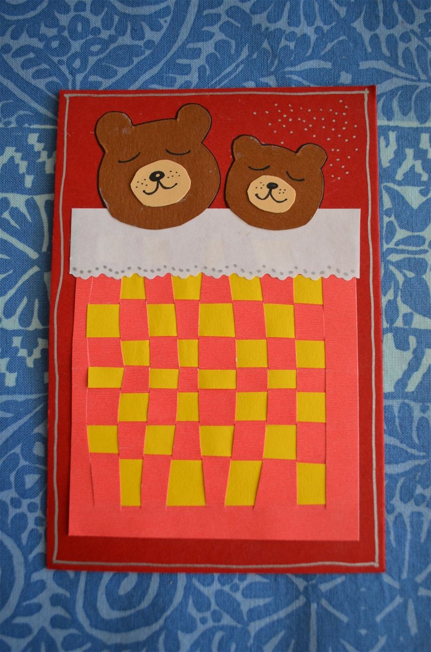 Weaving Bear Bed Preschool Crafts Weaving For Kids Yarn Crafts
