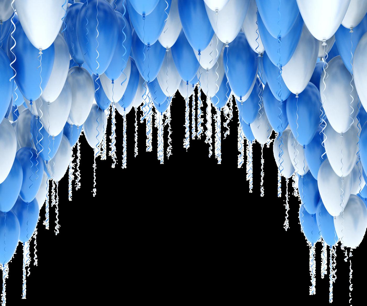 Blue And White Balloons Border Balloon Background Balloon Arch Blue Balloons